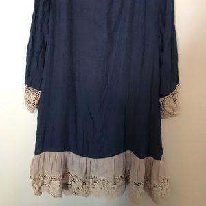 Paisley Grace Dresses - Women's Paisley Grace Navy Tan Dress Size Medium